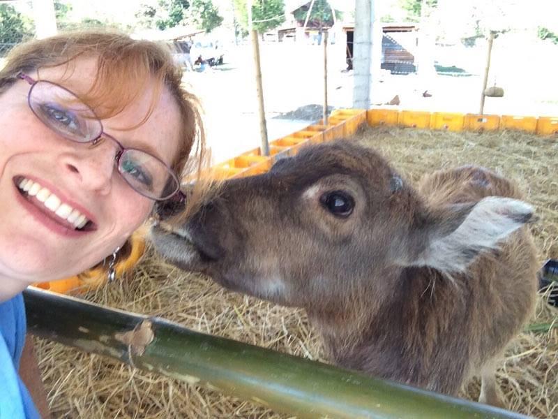 Buffalo baby kisses!!!