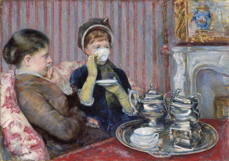 The Tea, Mary Stevenson Cassatt, 1880 Museum of Fine Arts, Boston