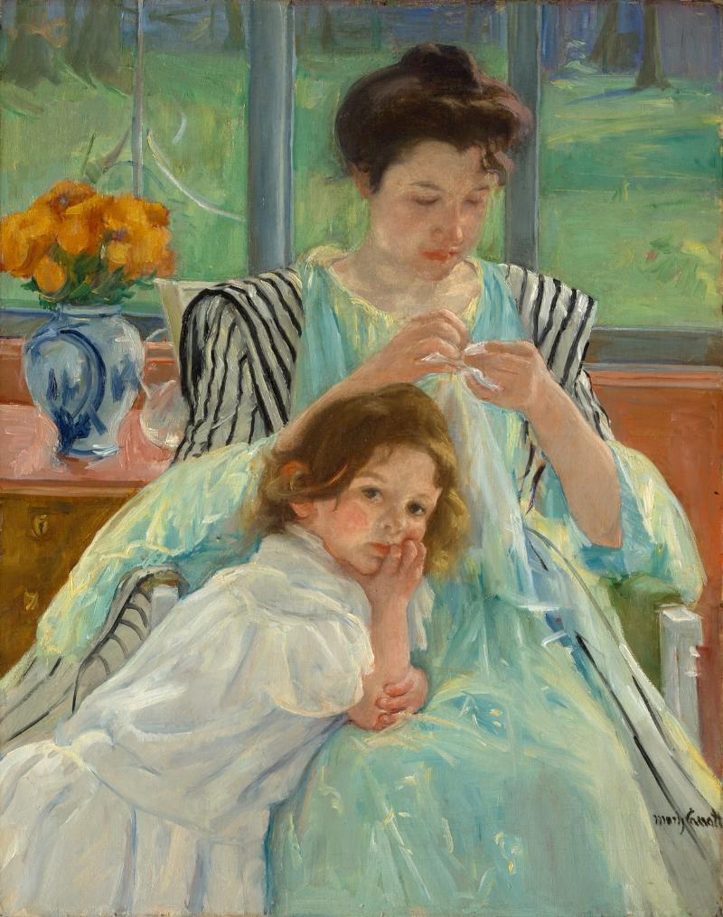 Young Mother Sewing, Mary Stevenson Cassatt, 1900 The Metropolitan Museum of Art, New York