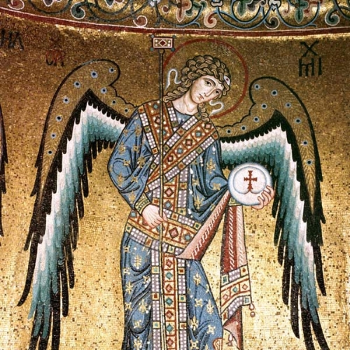 Archangel Gabriel in Cefalù Cathedral, Sicily