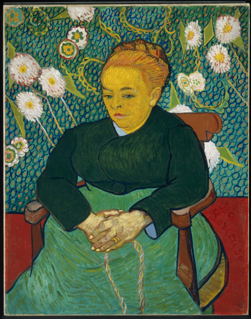 Lullaby: Madame Augustine Roulin Rocking a Cradle (La Berceuse), 1889,Vincent van Gogh(Dutch (worked in France), 1853–1890), Currently located at the Boston MFA
