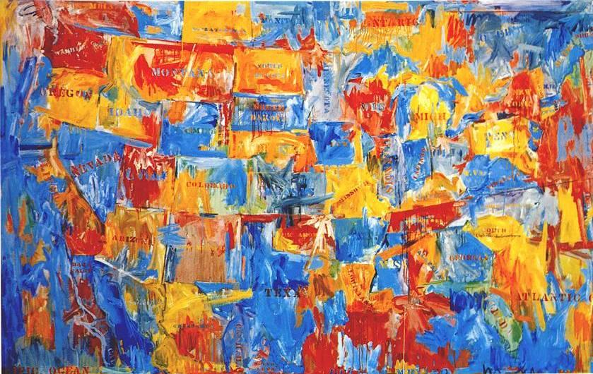 """Map"" 1961 by Jasper Johns,"