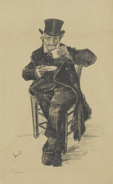 Old Man Drinking Coffee, Vincent Van Gogh, November 1882