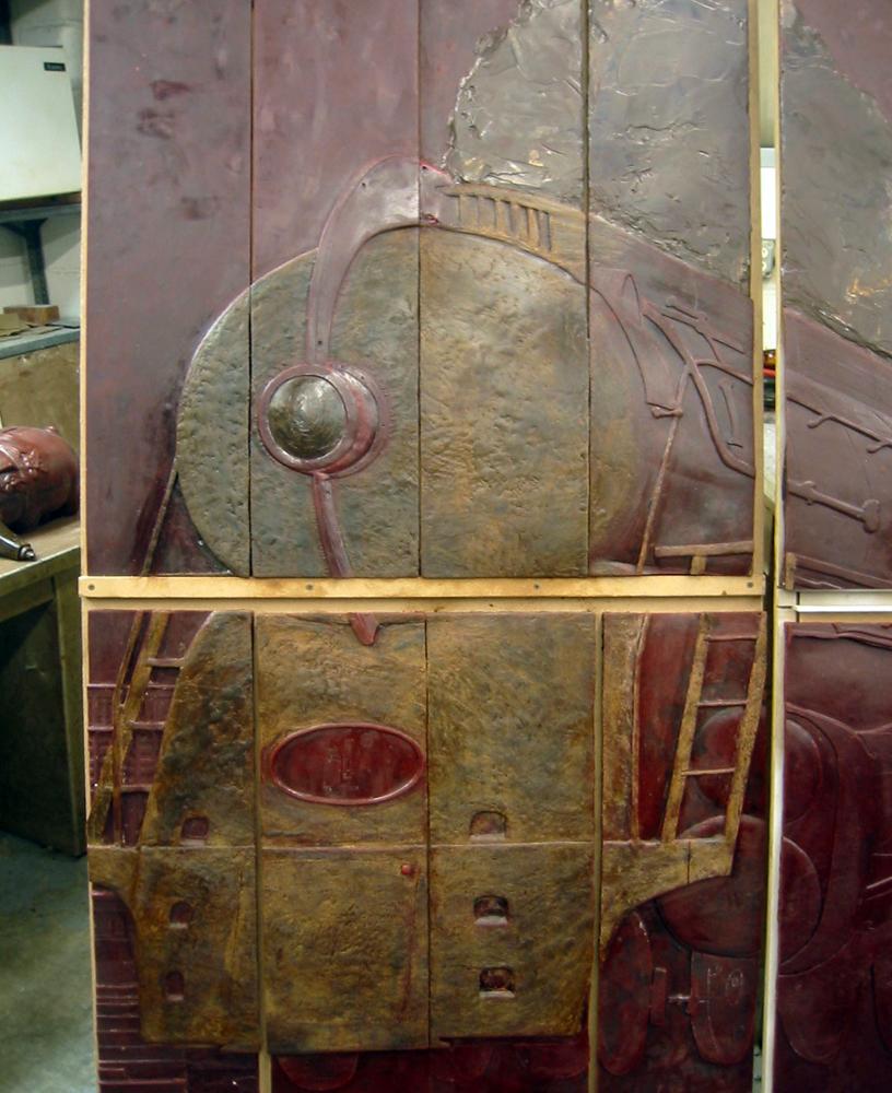 Helmsley Building Bronze Relief Sculpture, Train Engine.jpg