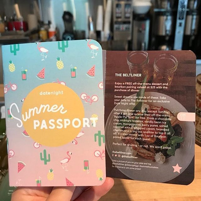Check out 2 of our fav things: food & local adventures! Get your Summer Passport from @datenightyyc & go to @thebeltliner for A HUGE PIE SUNDAE (plus bourbon for 2). You get all this free if you dine & show them your #SummerLovinDates passport. $10 at the diner while they last! #InItTogether #cmngdpartner #datenightyyc