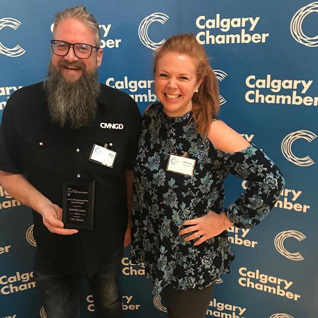Look at these 2 😍 - we're pretty excited to be a finalist for the Social Enterprise Award from @calgarychamber. The Awards Gala is this Friday! Happy Small Business Week! ... . . @atbbusiness @startupyyc #sbw #sbw2018 #smallbusiness #socent #socialenterprise #profitforpurpose #socialbusiness #dogood #yyc #calgary #restaurants #foodieyyc #yycrestaurants