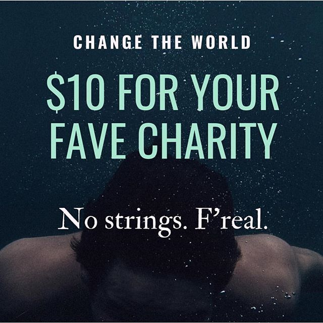 Seriously. $10 for whatever charity you want. Zero strings. Just go make the world better. Link in bio at @meetgoodpin click a few buttons and change the world. Feel epic! . . . .  #stopmarketingstartmattering #goodpinit  #makegoodfamous  #socent #socialgood  #purpose  #sogo #makeadifference  #entreprenuership#hustle  #entreprenuer  #bethechange  #causemarketing  #dogood  #socialgood #socialmediamarketing  #goodvibes #goodstuff  #good  #lifeisgood  #sogood #socialchange  #socialenterprise #philanthropy  #givingback  #giveback #bethechange  #dosomething  #payitforward  #stopsellingstartgiving