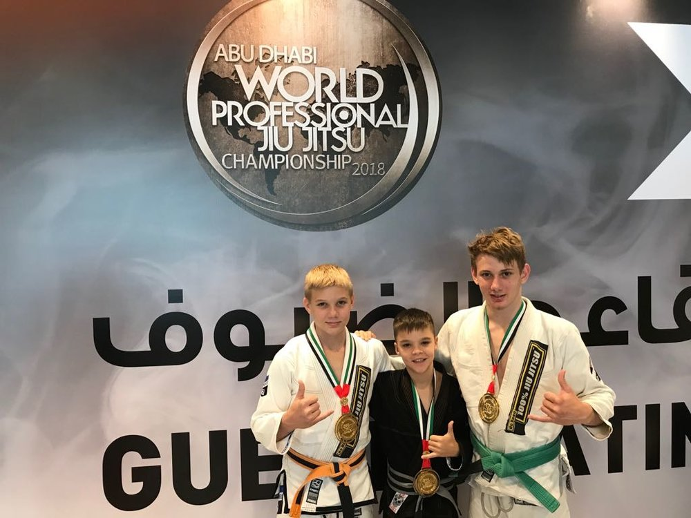 Once again the Junior Elite Team has done us proud at the Abu Dhabi World Pro 2018, taking home 3/4 Gold!  Well done Will, Cody, Kyle and Brodie!