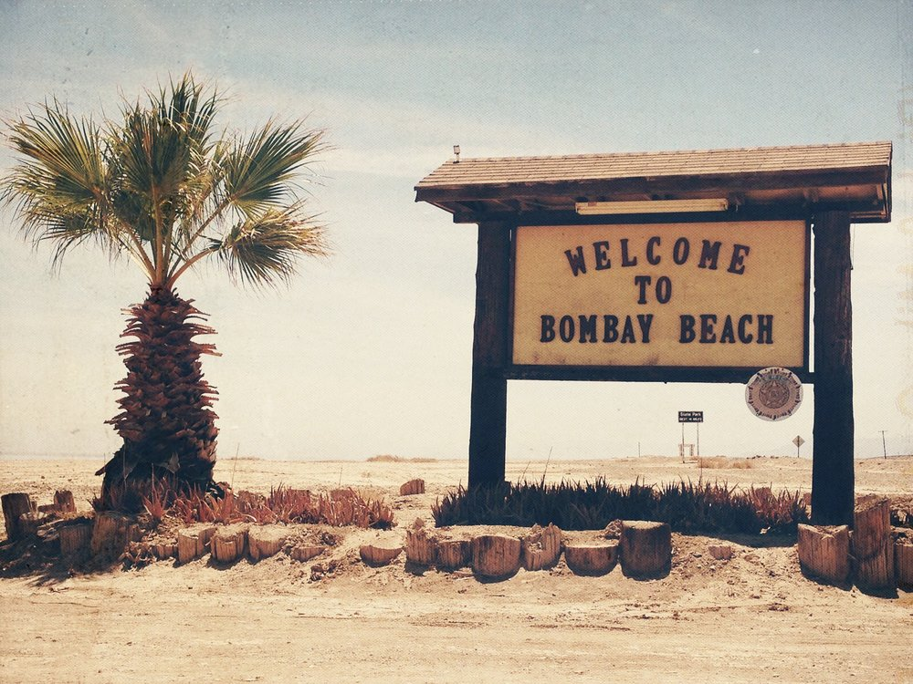 Bombay Beach Welcome Sign