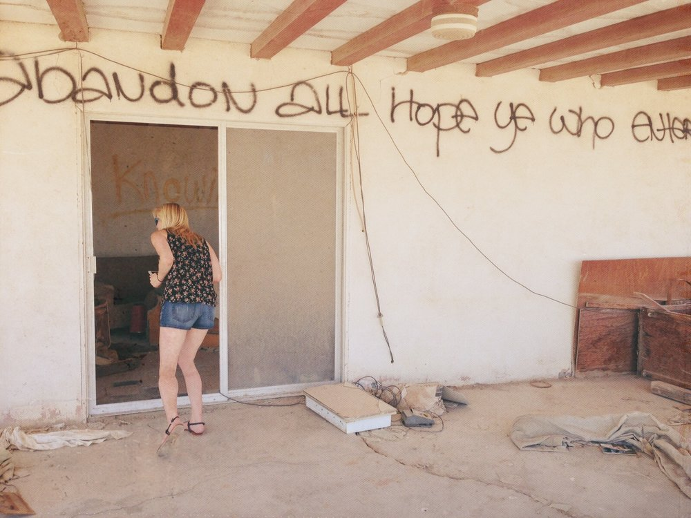 'Abandon all hope, ye who enter here,' Bombay Beach