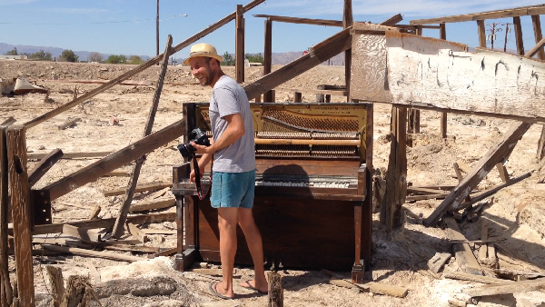 A Bombay Beach Piano