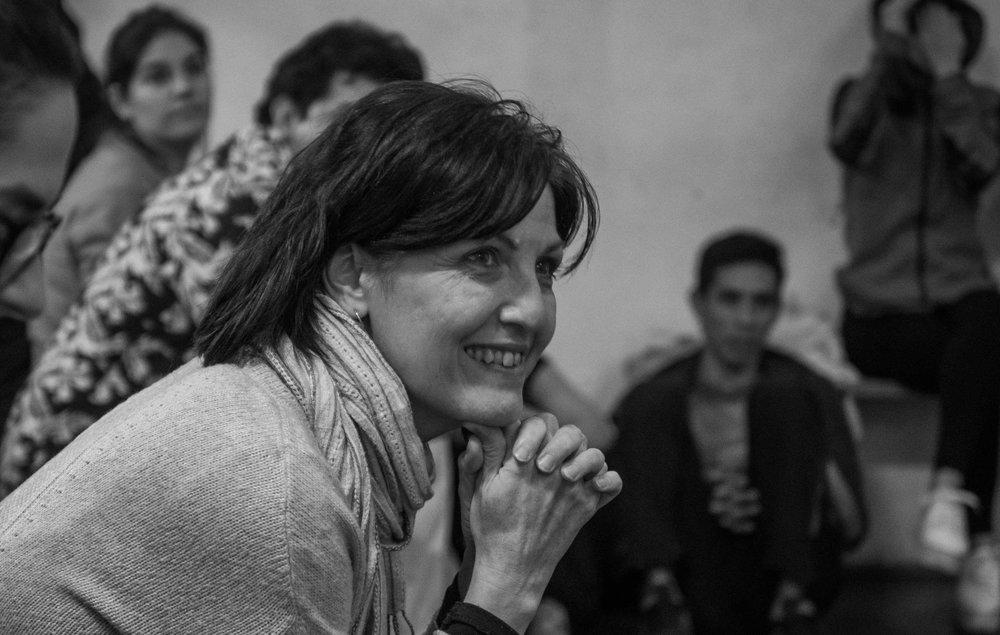 """Laura Silva durante el taller """"Actuar un Shakespeare - Intermedios"""" en agosto de 2017"""