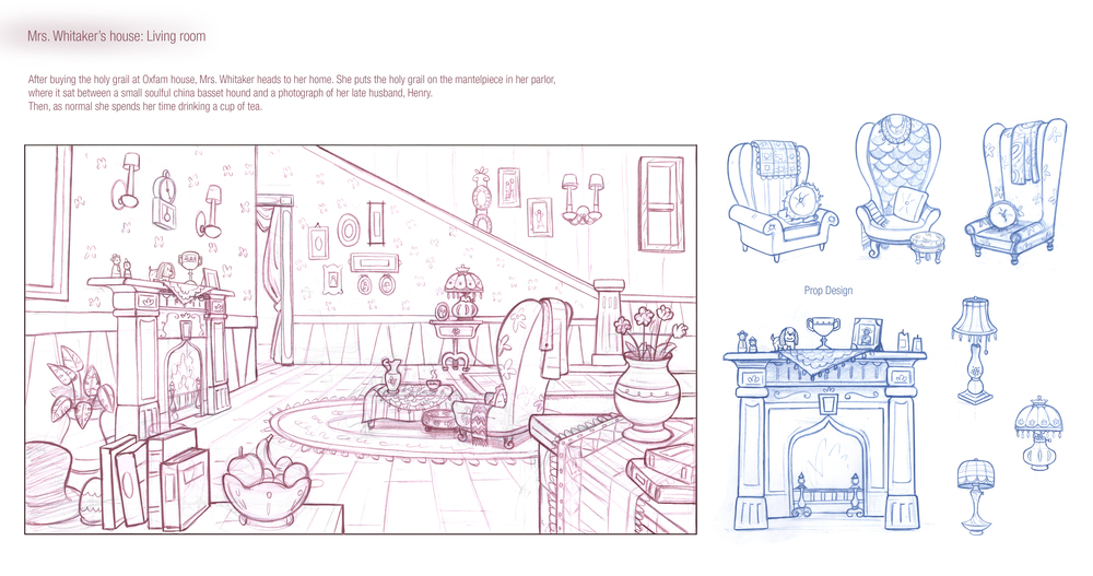 House interior design and prop studies.