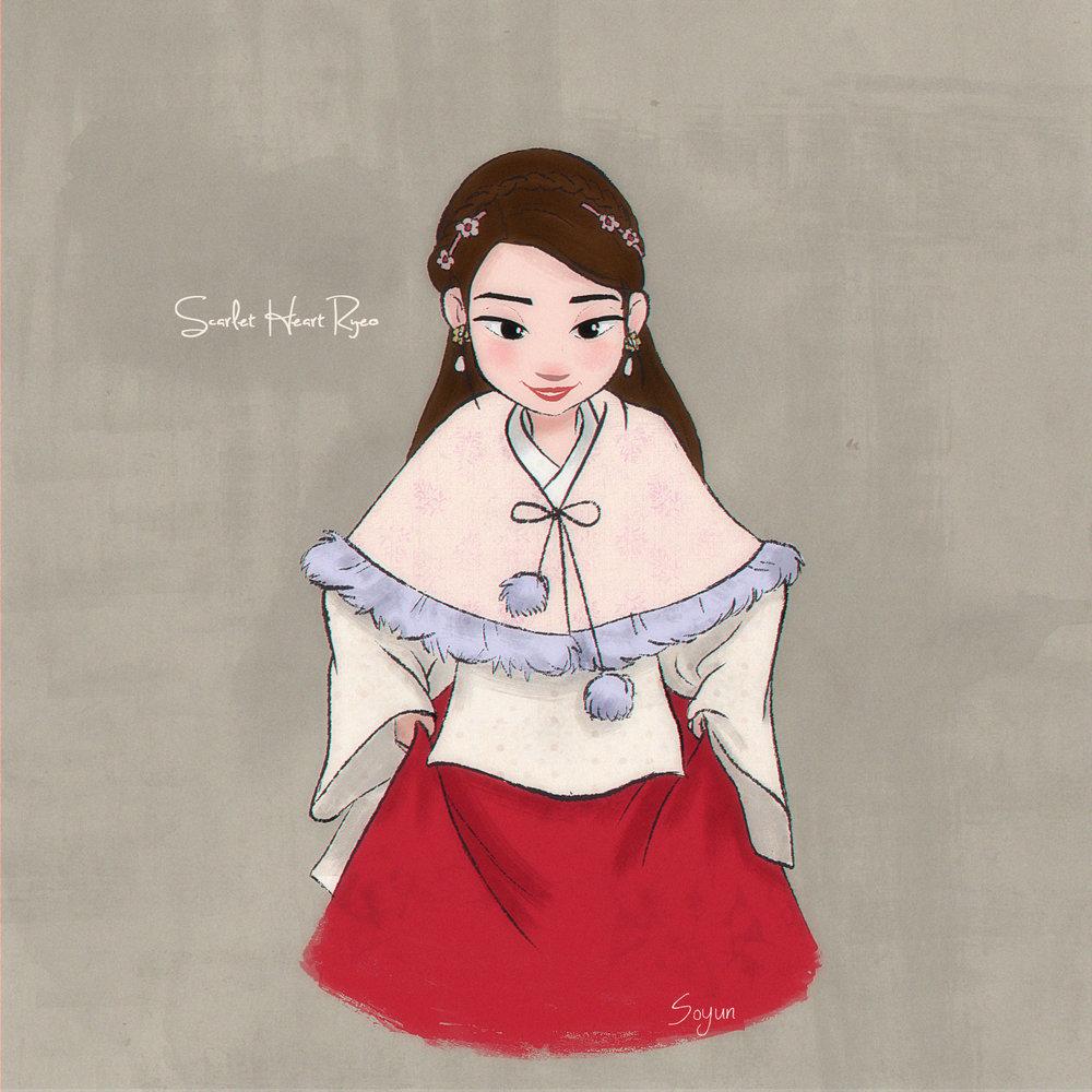 Fan art of K- Drama 'Scarlet Heart Ryeo'