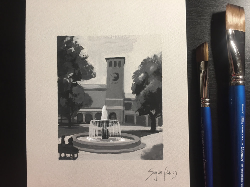 Gouache Painting at DreamWorks Feature Campus.