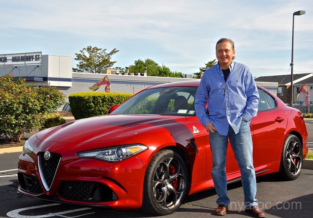 NYAROC - President Dino Pappous with his new 2017 Alfa Romeo Giulia Quadrifoglio