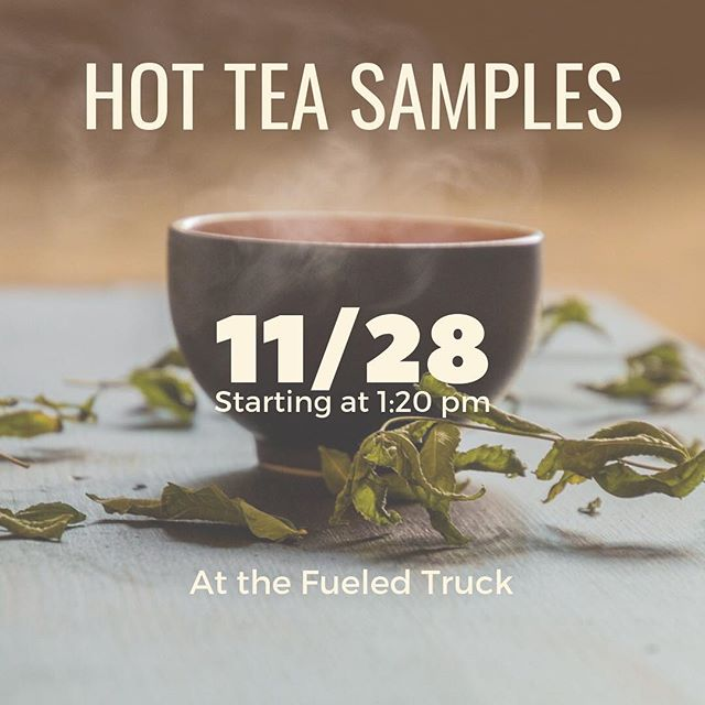 It's super close to winter, and that means hot beverages. Come try out our hot mint tea the Wednesday after Thanksgiving. We'll down by the Fueled truck after 1:20, making your walk between classes just a tiny bit sweeter.