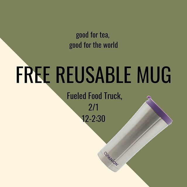 Hey everyone! Find us on Friday by the food truck passing out reusable mugs! Plenty of us drink tea and coffee across campus, so why not pass up on the disposable cups? Stop by the table and receive a cupanion!