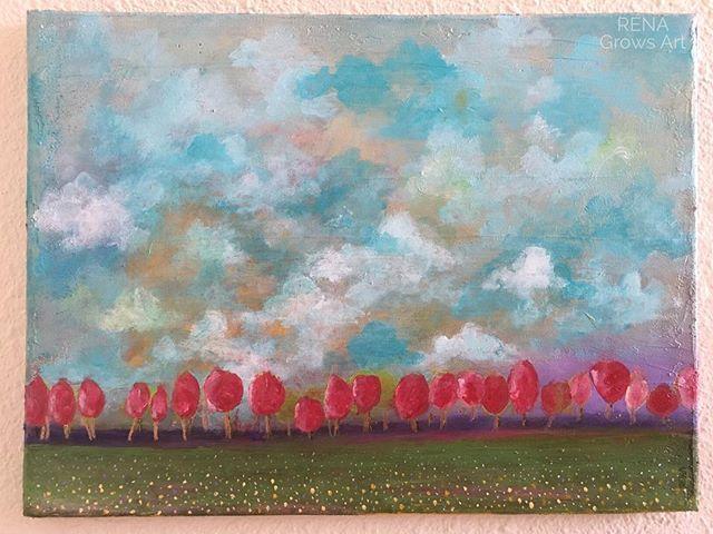 Lollipop Forest 🍭🌳 acrylic on canvas | 16x20 #lollipop #happyart