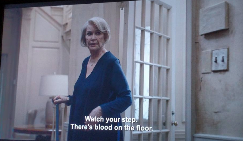 House of cards blood on the floor