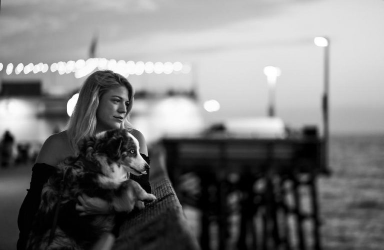 (Via LATIMES.com) - Terra Newell and her dog Cash, who both fought off her attacker.