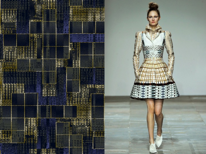 Left: 1956 by Tai Ping design no. GX08653-5 (1) / Right: Mary Katrantzou RTW fall '12
