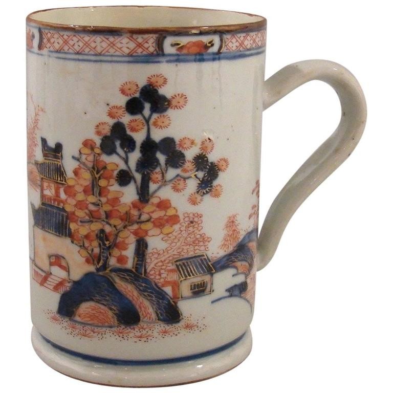 18th Century Polychrome Chinese Export Mug