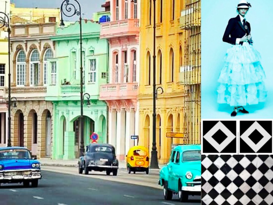 Inspiration colors, textures and design of Cuba