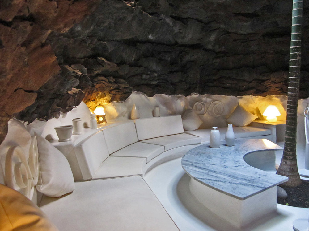 Artist Cesar Marique home Lanzarote, Canary Islands - constructed within a lava field