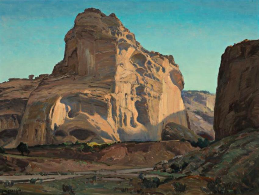 Carl Oscar Borg (1879-1947) - In Navajo Land