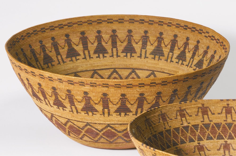 Yokuts Polychrome Pictorial coiled bowl - sold at Sotheby's $50,000.00 USD