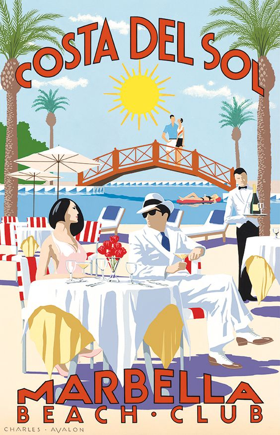 Vintage Marbella Beach Club poster via Pinterest