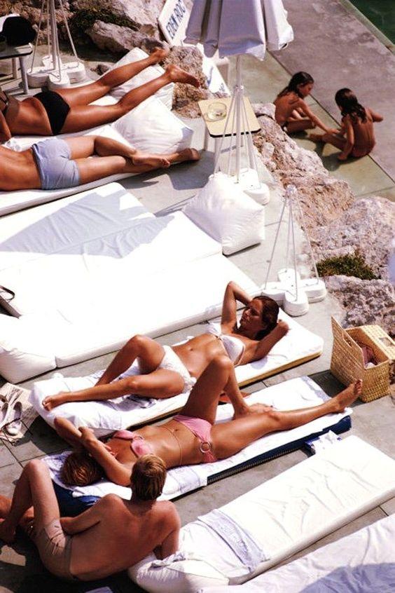 Sunbathers at Eden Roc, 1969