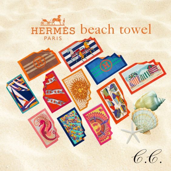 Hermes Beach towels by Consuelo Cavalcanti