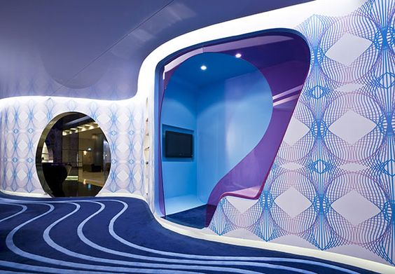 Karim Rashid's -  World Lounge for Yapi Kredi Bank.