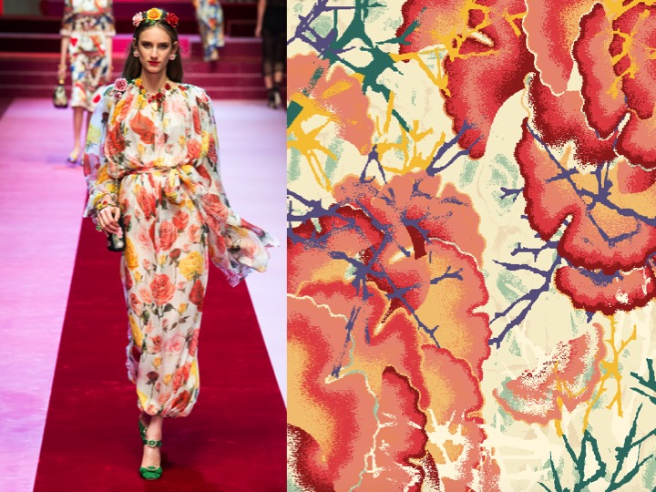 Left: Dolce & Gabbana SS'18 RTW / Right: Design no. nx02663-3