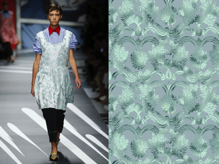 Left: Prada SS'19 RTW / Right: Design no. sx00987