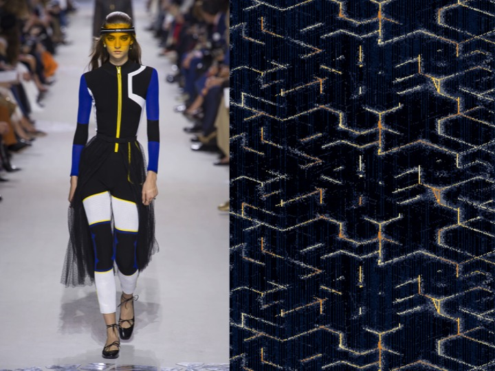 Left: Christian Dior RTW SS'18 / Right: Design no. nxz2021955-2