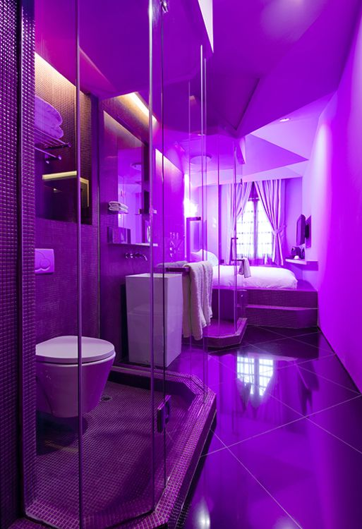 The Purple Haze room at Wanderlust Hotel- Singapore, China
