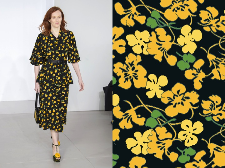 Left: Micheal Kors RTW Fall 2018 / Right: Royal Thai Design no. KX00516-13