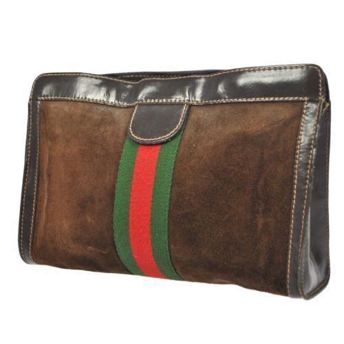 Vintage Gucci classic stripe clutch