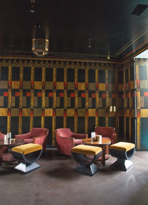 Studio Peregalli dramatic Art Deco inspired restaurant - Milan, Italy
