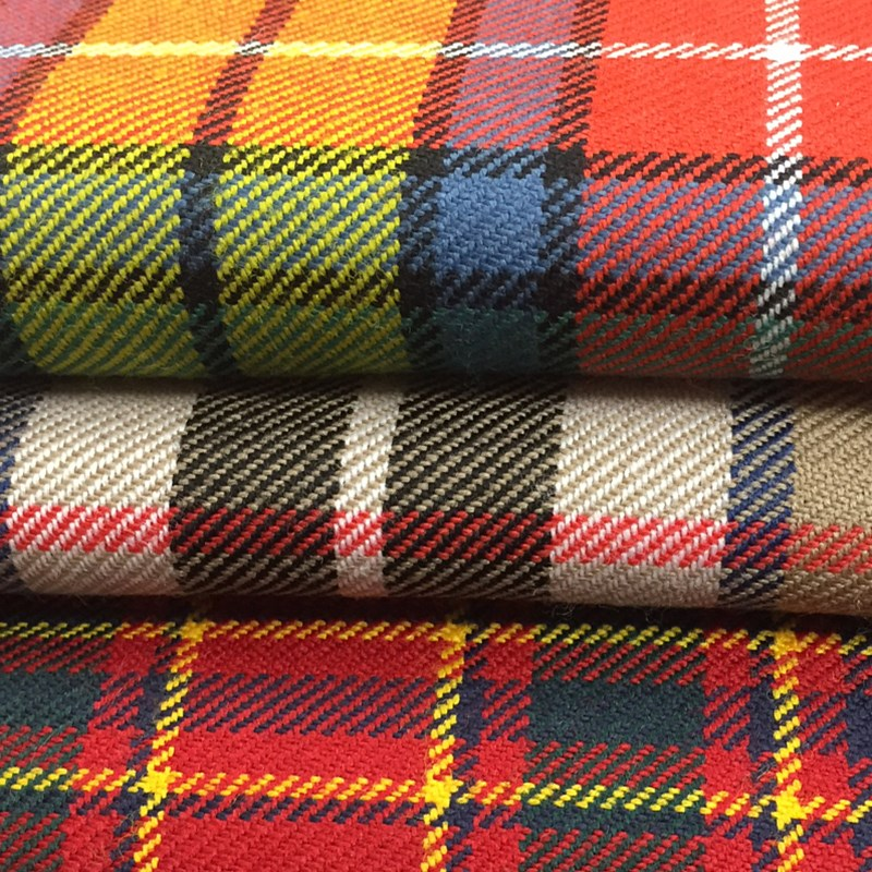 Scottish 10oz pure wool Tartan Fabric