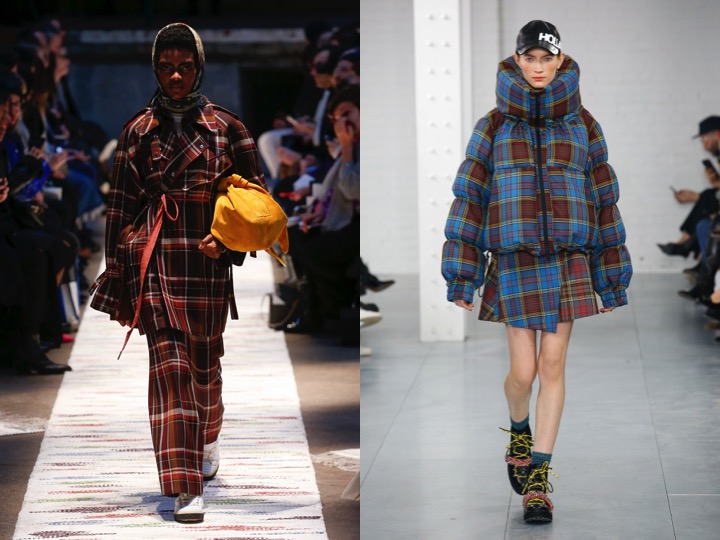 Left: Acne Studios Fall '18  / Right: House of Holland Fall '18