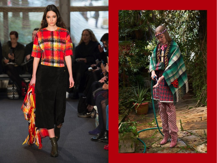 Left: Derek Lam Fall '18  / Right: Gucci Pre Fall '18
