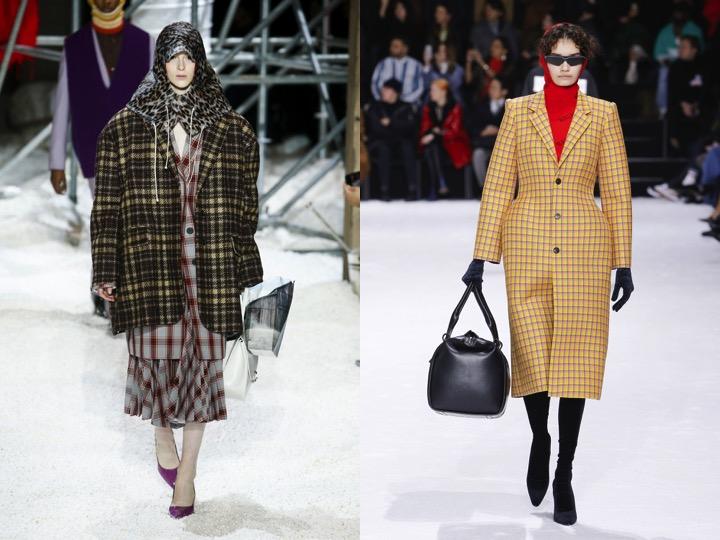 Left: Calvin Klein Fall '18  / Right: Balenciaga Fall '18