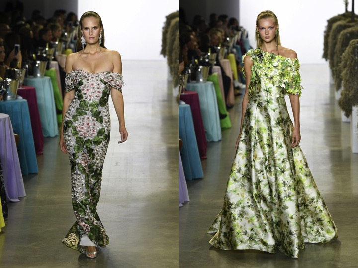 Both Images | Badgley Mischka Spring 2019 RTW