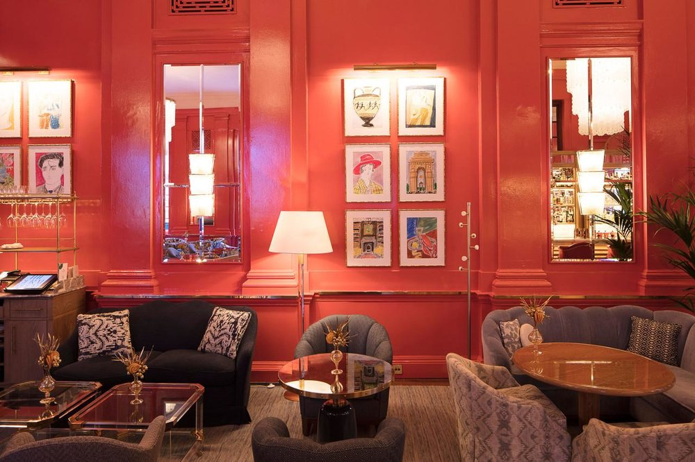 The Coral Room at The Bloomsbury Hotel - London, England