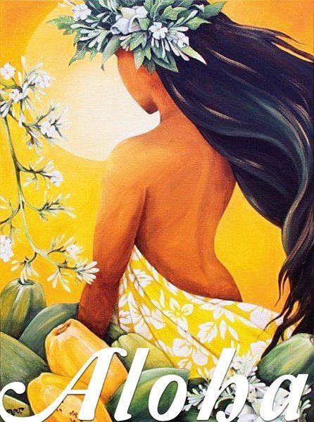 Vintage Hawaiian Travel Poster