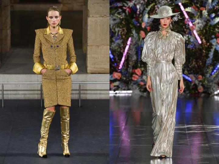Left: Chanel Metiers D'Art Pre-Fall '19   Right: Rodarte Fall/Winter '19